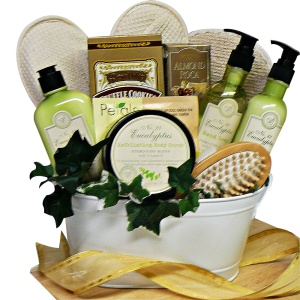 Peace and Relaxation Eucalyptus Bath and Body gift basket
