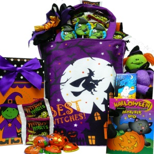AOA's Best Witches Happy Halloween Tote Bag Gift Basket