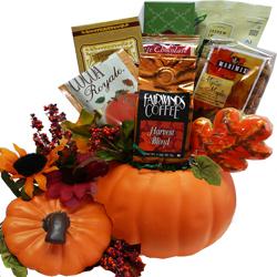 Ceramic Pumpkin Gift Basket